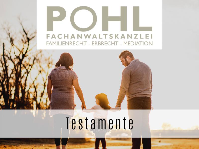 Testamente - Ihr Fachanwalt Matthias Pohl in Eckernförde